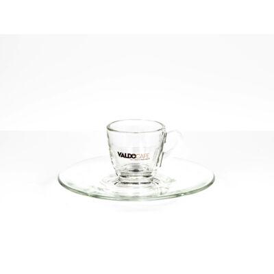 6 db-os üveg presszós csésze alátéttel